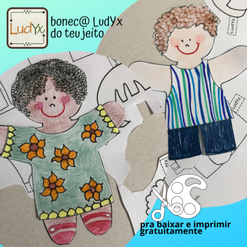 Clique na imagem, cadastre-se e faça o download do@ bonec@ de papel, gratuitamente.